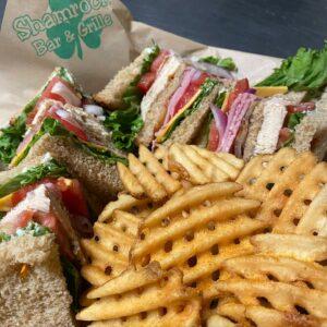 Club sandwich at Shamrocks Bar & Grill
